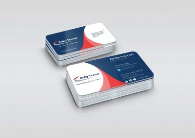 Double sided business card printing with rounded edges